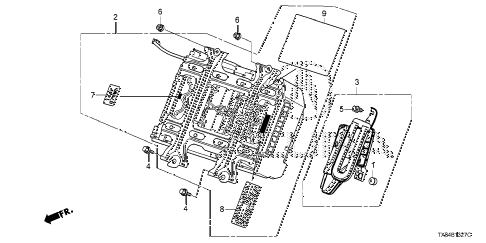 2013 ILX BASE 4 DOOR CVT IMA BATTERY diagram
