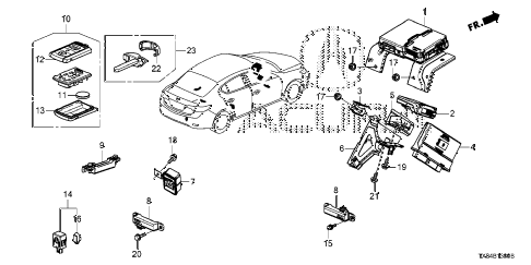 2014 ILX BASE 4 DOOR CVT SMART UNIT diagram
