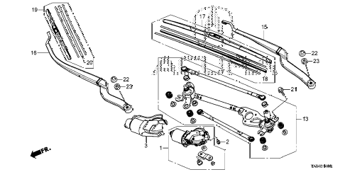 2014 ILX BASE 4 DOOR CVT FRONT WINDSHIELD WIPER diagram