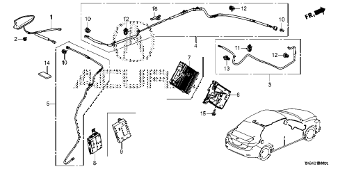 2014 ILX TECH 4 DOOR CVT ANTENNA diagram
