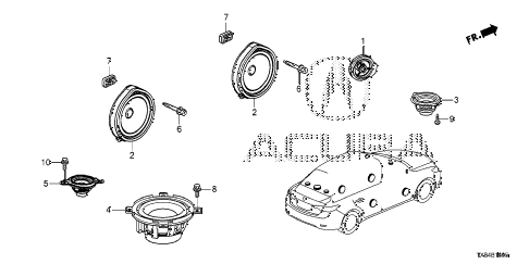2014 ILX TECH 4 DOOR CVT SPEAKER diagram