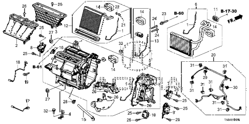 2013 ILX TECH 4 DOOR CVT HEATER UNIT diagram