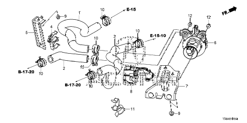 2013 ILX BASE 4 DOOR CVT WATER PUMP - WATER HOSE diagram