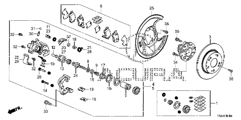 2013 ILX TECH 4 DOOR CVT REAR BRAKE diagram