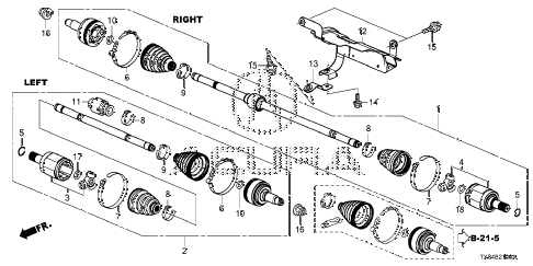 2014 ILX TECH 4 DOOR CVT DRIVESHAFT diagram