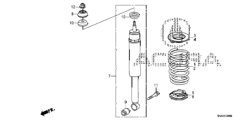 2014 ILX TECH 4 DOOR CVT REAR SHOCK ABSORBER diagram
