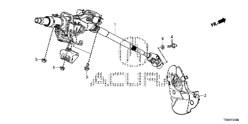 2013 ILX BASE 4 DOOR CVT STEERING COLUMN diagram