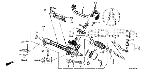 2013 ILX TECH 4 DOOR CVT P.S. GEAR BOX diagram
