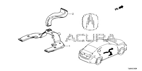2013 ILX BASE 4 DOOR CVT DUCT diagram
