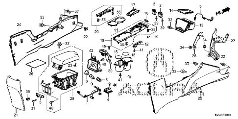 2014 ILX BASE 4 DOOR CVT CONSOLE diagram