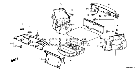 2014 ILX BASE 4 DOOR CVT REAR TRAY - TRUNK LINING diagram