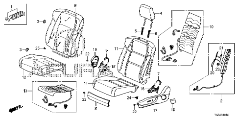 2013 ILX TECH 4 DOOR CVT FRONT SEAT (L.) (POWER SEAT) diagram