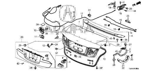 2013 ILX TECH 4 DOOR CVT TRUNK LID diagram