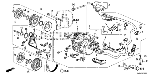 2013 ILX BASE 4 DOOR CVT A/C COMPRESSOR diagram