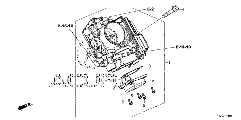 2013 ILX BASE 4 DOOR CVT THROTTLE BODY diagram