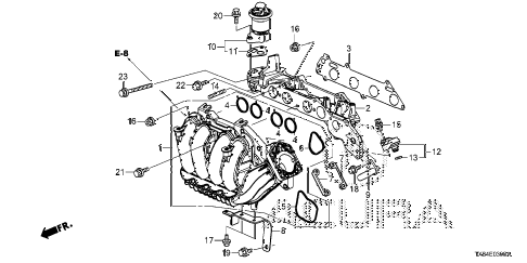 2013 ILX BASE 4 DOOR CVT INTAKE MANIFOLD diagram