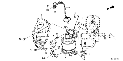 2014 ILX TECH 4 DOOR CVT CONVERTER diagram