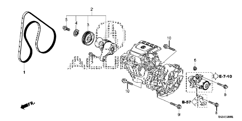 2013 ILX TECH 4 DOOR CVT TENSIONER diagram