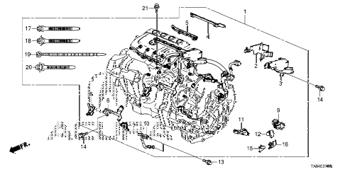 2013 ILX TECH 4 DOOR CVT ENGINE WIRE HARNESS diagram