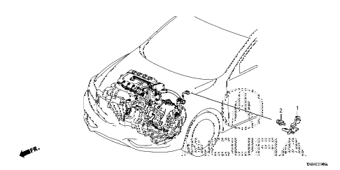 2013 ILX TECH 4 DOOR CVT ENGINE WIRE HARNESS STAY diagram