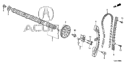 2014 ILX TECH 4 DOOR CVT CAMSHAFT - CAM CHAIN diagram