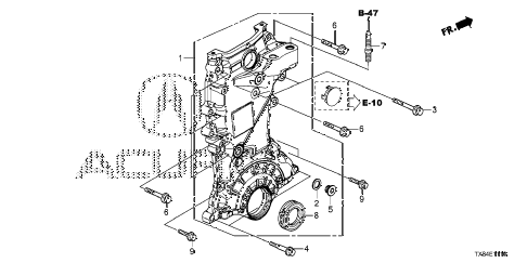 2014 ILX BASE 4 DOOR CVT CHAIN CASE diagram