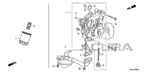 2013 ILX TECH 4 DOOR CVT OIL PUMP diagram