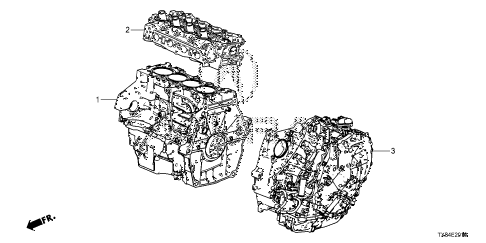 2013 ILX BASE 4 DOOR CVT ENGINE ASSY. - TRANSMISSION ASSY. diagram