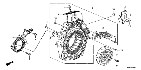 2013 ILX TECH 4 DOOR CVT IMA MOTOR diagram