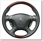 WOOD-LOOK AND LEATHER STEERING WHEELS (part number:)