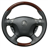 WOOD-LOOK AND LEATHER STEERING WHEELS (BLACK) (part number:)