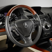 WOODGRAIN-LOOK STEERING WHEEL (part number:)