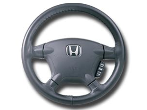 LEATHER STEERING-WHEEL COVER (part number:)