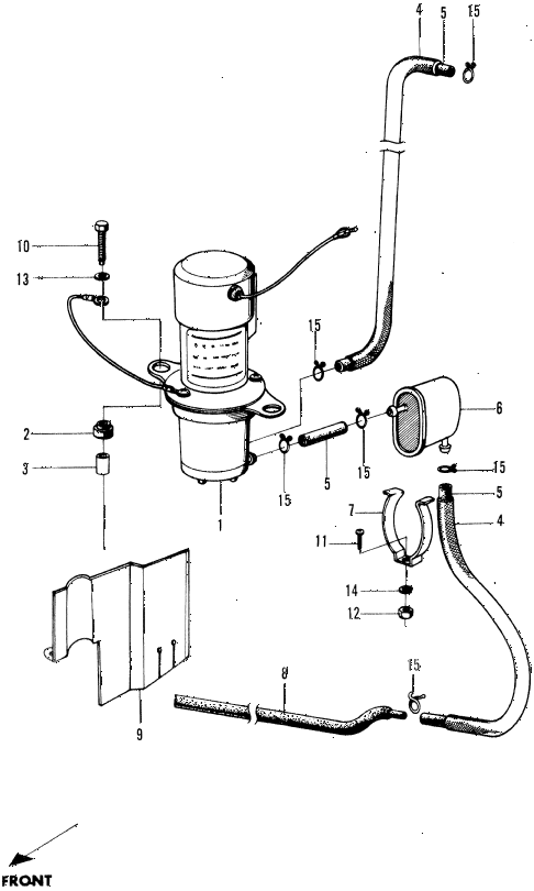 1972 n600 ** 2 DOOR 4MT FUEL PUMP diagram