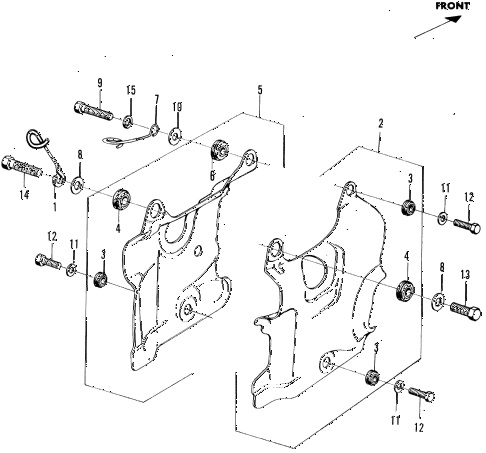 1972 n600 ** 2 DOOR 4MT ENGINE SHROUD diagram