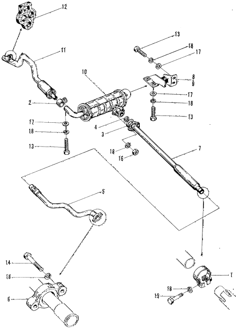 1971 z600 ** 2 DOOR 4MT EXHAUST MUFFLER diagram