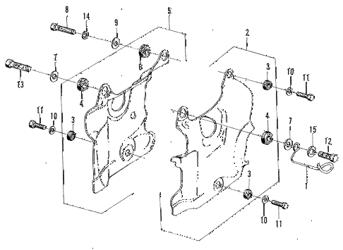 1972 z600 ** 2 DOOR 4MT ENGINE SHROUD diagram
