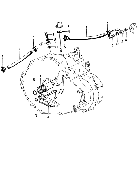 1975 civic **(1200) 2 DOOR HMT HMT OIL COOLER HOSE - OIL STRAINER diagram