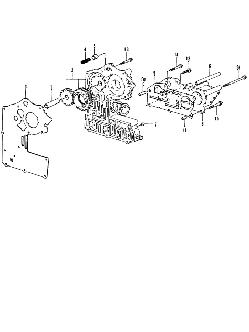 1973 civic **(1200) 3 DOOR HMT HMT VALVE BODY diagram