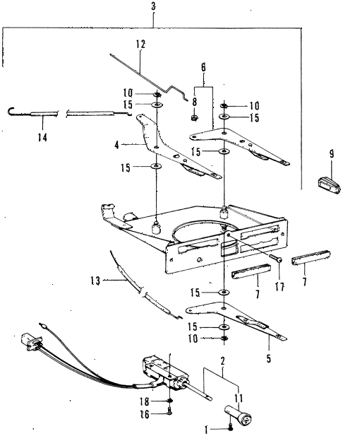 1976 civic **(1200) 3 DOOR 4MT HEATER LEVER diagram