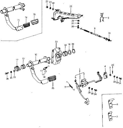 1974 civic **(1200) 3 DOOR HMT HMT PEDAL diagram