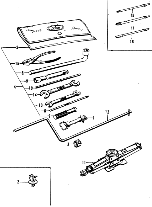 1976 civic **(1200) 3 DOOR HMT TOOLS diagram