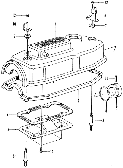 1976 civic **(1200) 3 DOOR 4MT CYLINDER HEAD COVER diagram
