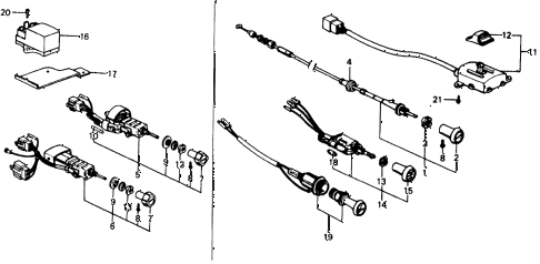 1976 civic **(1500) 3 DOOR 5MT SWITCH (1) diagram
