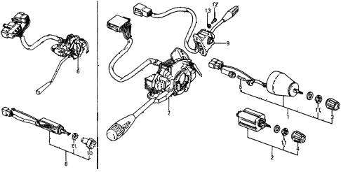 1976 civic **(1500) 2 DOOR HMT SWITCH (2) diagram
