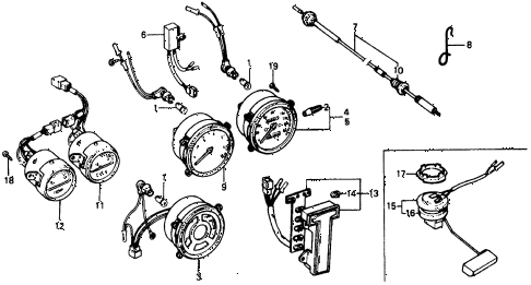 1976 civic **(1500) 2 DOOR 4MT SPEEDOMETER diagram