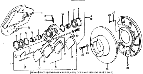 1976 civic **(1500) 3 DOOR 4MT DISK BRAKE diagram