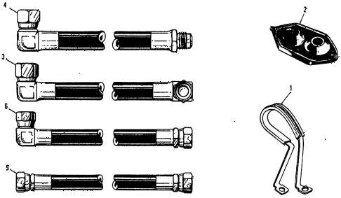 1975 civic **(1500) 2 DOOR HMT A/C HOSE (TYPE-1) diagram