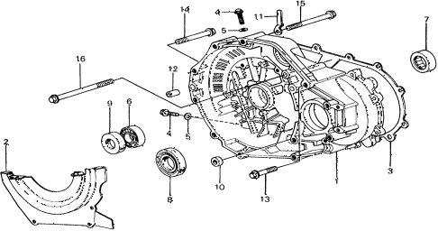 1977 civic ** 5 DOOR HMT HMT TORQUE CONVERTER HOUSING diagram