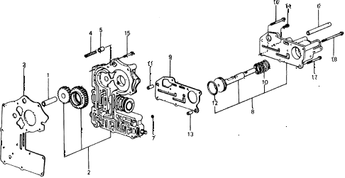 1977 civic ** 5 DOOR HMT HMT VALVE BODY diagram
